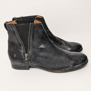 Frye leather Carly Chelsea Boot size 11B women's distressed black